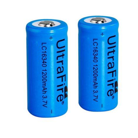 2x Piles rechargeables 16340